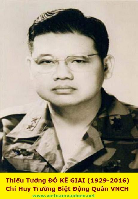 Tưởng Niệm Thiếu Tướng ĐỖ KẾ GIAI(1929-2016)